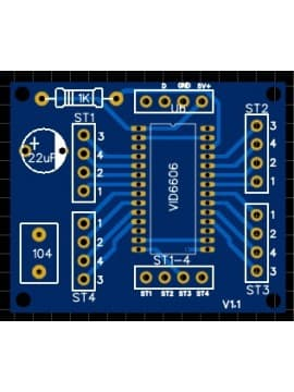 VID6606 PCB for X27 steppermotor
