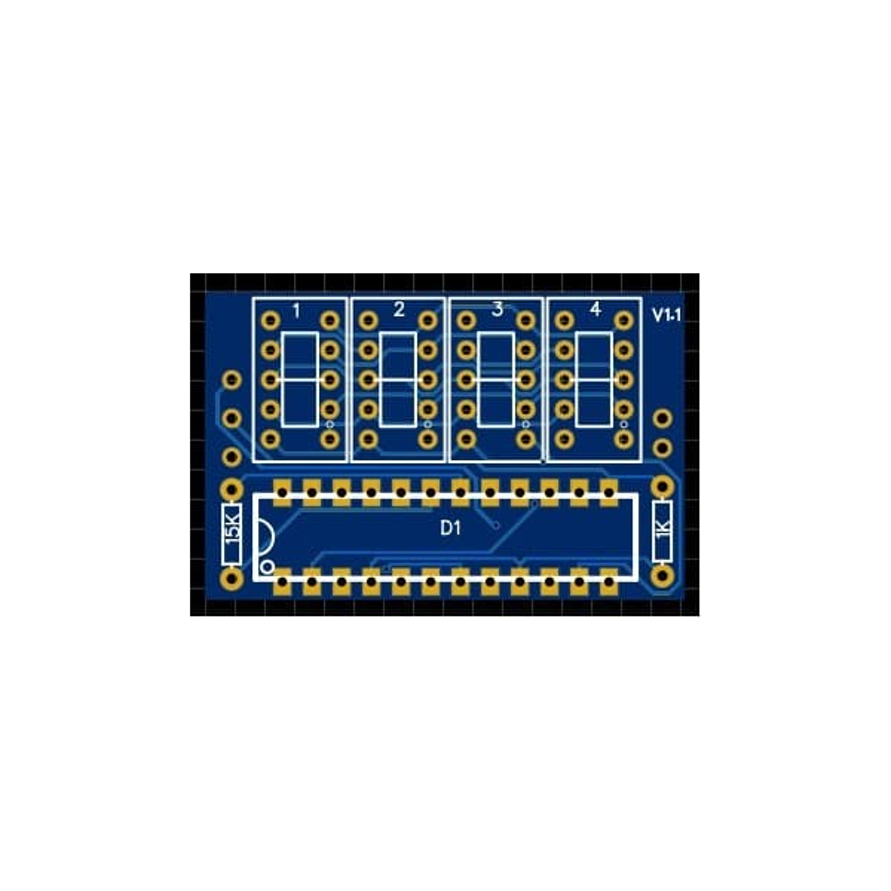 7 segment PCB 0.36 inch 4 Digit